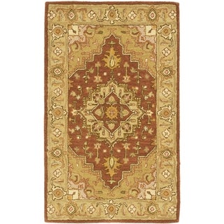 Safavieh Handmade Heritage Timeless Traditional Rust/ Gold Wool Rug (3' x 5')