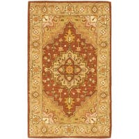 Safavieh Handmade Heritage Timeless Traditional Rust/ Gold Wool Rug - 3' x 5'