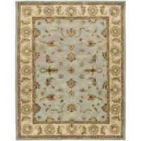 Safavieh Handmade Heritage Timeless Traditional Light Blue/ Beige Wool Rug - 8'3 x 11'