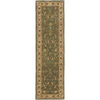 Safavieh Handmade Heritage Traditional Kashan Blue/ Beige Wool Runner Rug - 2'3 x 6'