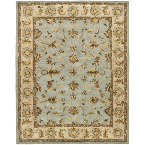 Safavieh Handmade Heritage Timeless Traditional Light Blue/ Beige Wool Rug (6' x 9')
