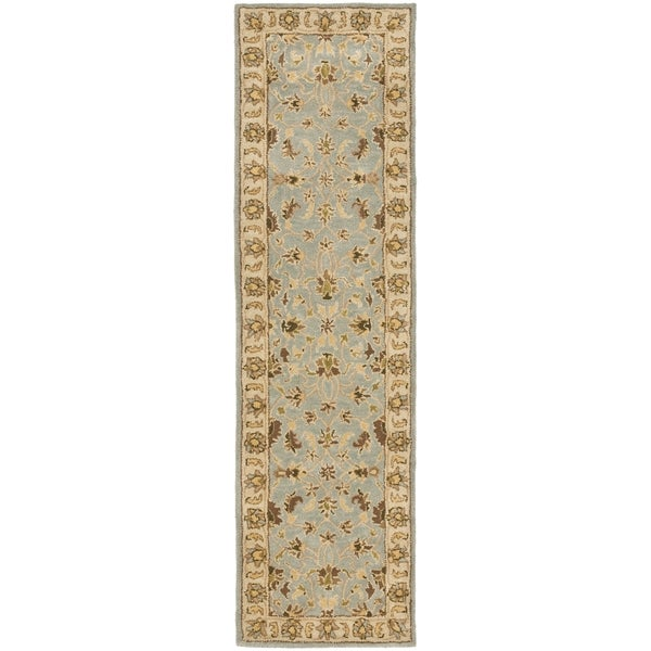 Safavieh Handmade Heritage Timeless Traditional Light Blue/ Beige Wool Runner Rug - 2'3 x 10'