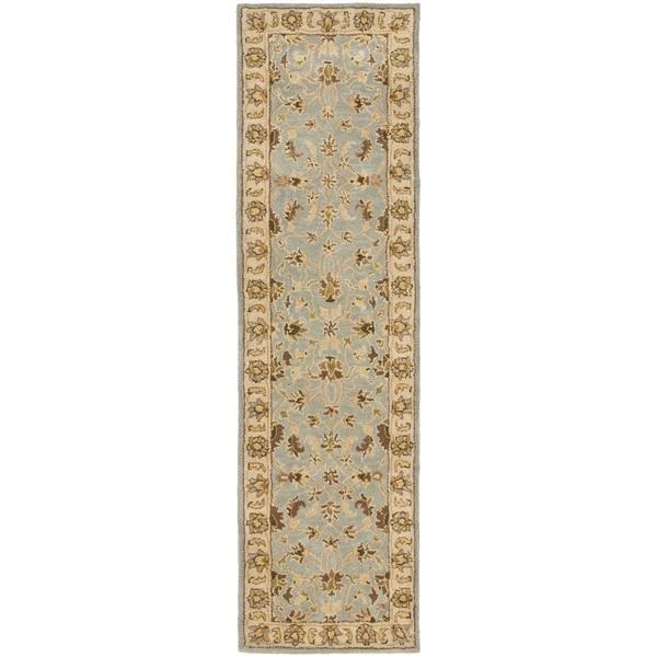 Safavieh Handmade Heritage Timeless Traditional Light Blue/ Beige Wool Runner (2'3 x 12')