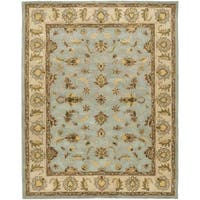 Safavieh Handmade Heritage Timeless Traditional Light Blue/ Beige Wool Rug - 7'6 x 9'6
