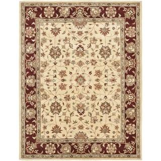Safavieh Handmade Heritage Timeless Traditional Ivory/ Red Wool Rug (6' x 9')