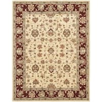 Safavieh Handmade Heritage Timeless Traditional Ivory/ Red Wool Rug - 6' x 9'