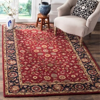 Safavieh Handmade Heritage Timeless Traditional Red/ Navy Wool Rug (4' x 6')