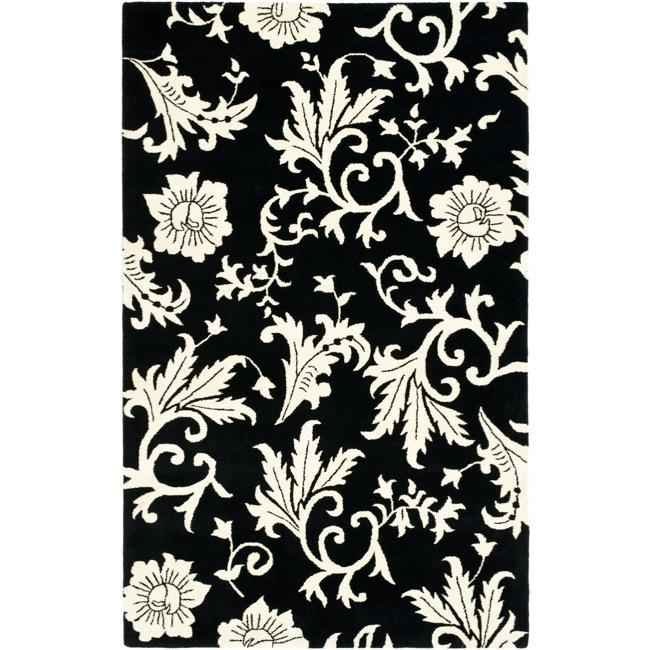 Safavieh Handmade Soho Sillo Black New Zealand Wool Rug - 7'6 x 9'6