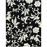 "Safavieh Handmade Soho Sillo Black New Zealand Wool Rug - 7'-6"" x 9'-6"""