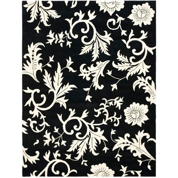 "Safavieh Handmade Soho Sillo Black New Zealand Wool Rug - 7'6"" x 9'6"""
