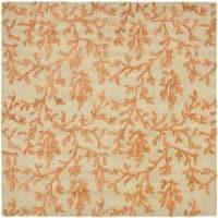 Safavieh Handmade Soho Ferns Green New Zealand Wool Rug (6' Square) - 6'
