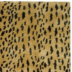 Safavieh Handmade Soho Leopard Skin Beige New Zealand Wool Rug (8'3 x 11') - Thumbnail 1