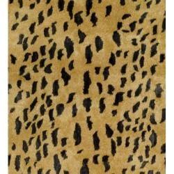 Safavieh Handmade Soho Leopard Skin Beige New Zealand Wool Rug (8'3 x 11') - Thumbnail 2