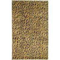 Safavieh Handmade Soho Leopard Skin Beige New Zealand Wool Rug - 8'3 x 11'