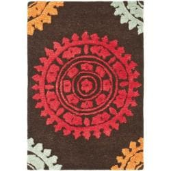 Safavieh Handmade Soho Chrono Brown/ Multi New Zealand Wool Rug (2' x 3')