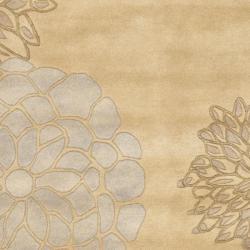 Safavieh Handmade Soho Bontanical Beige New Zealand Wool Rug (7'6 x 9'6) - Thumbnail 2