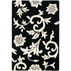 Safavieh Handmade Soho Sillo Black New Zealand Wool Rug - 2' x 3' - Thumbnail 0