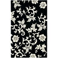 "Safavieh Handmade Soho Sillo Black New Zealand Wool Rug - 3'-6"" x 5'-6"""