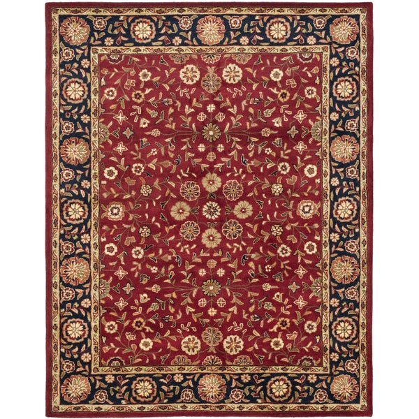 Safavieh Handmade Heritage Timeless Traditional Red/ Navy Wool Rug (7'6 x 9'6)