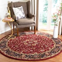 "Safavieh Handmade Heritage Timeless Traditional Red/ Navy Wool Rug - 7'6"" x 9'6"""