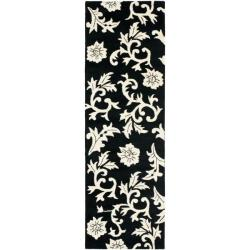 Safavieh Handmade Soho Sillo Black New Zealand Wool Rug (2'6 x 8')