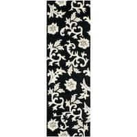 "Safavieh Handmade Soho Sillo Black New Zealand Wool Rug (2'6 x 8') - 2'6"" x 8'"