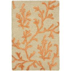Safavieh Handmade Soho Ferns Green New Zealand Wool Rug (2' x 3')