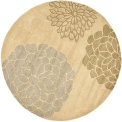 Safavieh Handmade Soho Bontanical Beige New Zealand Wool Rug (6' Round)
