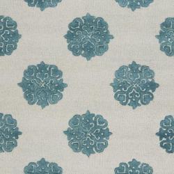 Safavieh Handmade Soho Medallion Light Silver N. Z. Wool Rug (7'6 x 9'6) - Thumbnail 2