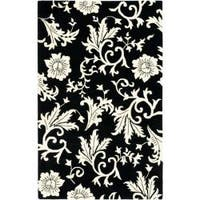 Safavieh Handmade Soho Sillo Black New Zealand Wool Rug - 5' x 8'
