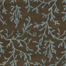 Safavieh Handmade Soho Ferns Brown New Zealand Wool Rug (3'6 x 5'6')