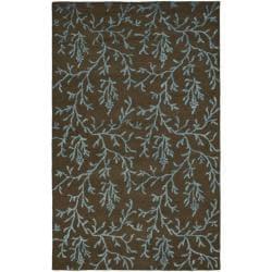 Safavieh Handmade Soho Ferns Brown New Zealand Wool Rug (7'6 x 9'6)