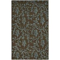 Safavieh Handmade Soho Ferns Brown New Zealand Wool Rug - 7'6 x 9'6