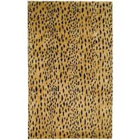 "Safavieh Handmade Soho Leopard Skin Beige N. Z. Wool Rug - 9'6"" x 13'6"""