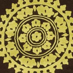 Safavieh Handmade Soho Chrono Brown/ Green N. Z. Wool Rug (3'6 x 5'6') - Thumbnail 2