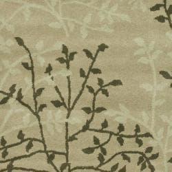 Safavieh Handmade Soho Moments Green New Zealand Wool Rug (5'x 8')