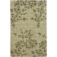Safavieh Handmade Soho Moments Green New Zealand Wool Rug (5'x 8') - 5' x 8'
