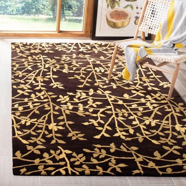 "Safavieh Handmade Soho Moments Brown New Zealand Wool Rug - 3'-6"" x 5'-6"""