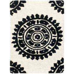 Safavieh Handmade Soho Chrono Ivory/ Black New Zealand Wool Rug (2' x 3')