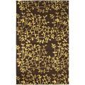 Safavieh Handmade Soho Moments Brown New Zealand Wool Rug - 7'6 x 9'6