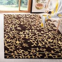 "Safavieh Handmade Soho Moments Brown New Zealand Wool Rug - 7'6"" x 9'6"""