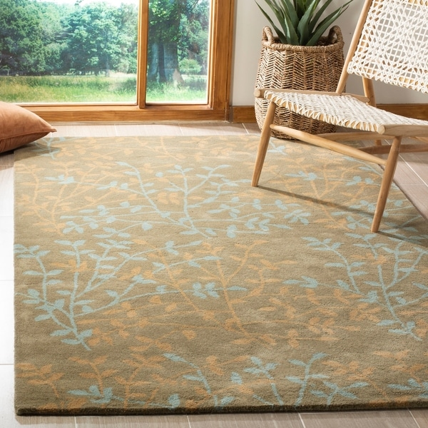 "Safavieh Handmade Soho Moments Light Brown N. Z. Wool Rug - 7'6"" x 9'6"""