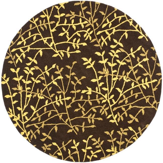 Safavieh Handmade Soho Moments Brown New Zealand Wool Rug (6' Round)