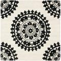 Safavieh Handmade Soho Chrono Ivory/ Black N. Z. Wool Rug - 6' x 6' Square