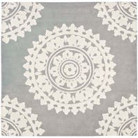 Safavieh Handmade Soho Chrono Grey/ Ivory New Zealand Wool Rug - 6'