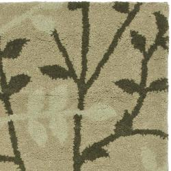 Safavieh Handmade Soho Moments Green New Zealand Wool Rug (2' x 3') - Thumbnail 1