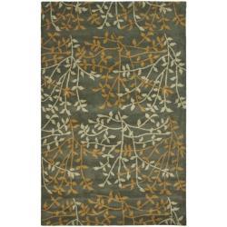 Safavieh Handmade Soho Moments Grey New Zealand Wool Rug (3'6 x 5'6')
