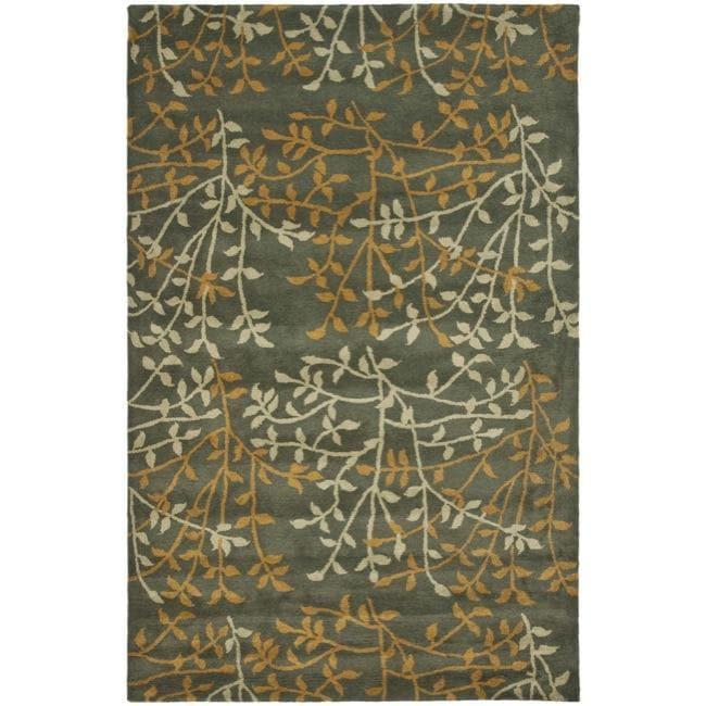 Safavieh Handmade Soho Moments Grey New Zealand Wool Rug - 7'6 x 9'6