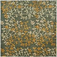 Safavieh Handmade Soho Moments Grey New Zealand Wool Rug - 6' X 6' Square