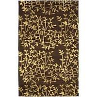 Safavieh Handmade Soho Moments Brown New Zealand Wool Rug (5'x 8') - 5' x 8'